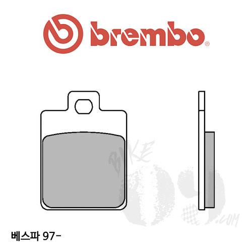 베스파 97-  브레이크 패드 브렘보 스쿠터 신터드