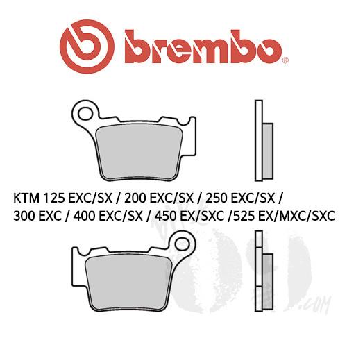 KTM 125 EXC/SX / 200 EXC/SX / 250 EXC/SX / 300 EXC / 400 EXC/SX / 450 EX/SXC /525 EX/MXC/SXC / 오토바이 브레이크패드 브렘보