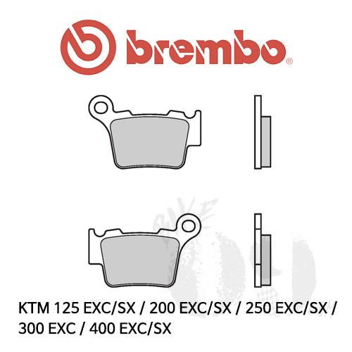 KTM 125 EXC/SX / 200 EXC/SX / 250 EXC/SX / 300 EXC / 400 EXC/SX /리어용 오토바이 브레이크패드 브렘보 신터드 스트리트