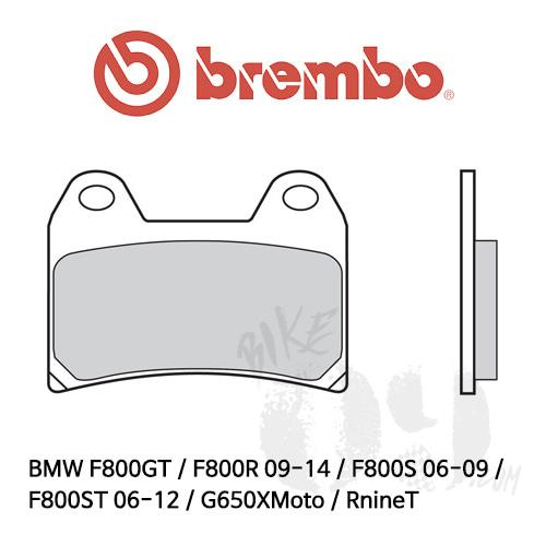 BMW F800GT / F800R 09-14 / F800S 06-09 / F800ST 06-12 / G650XMoto / RnineT 스크램블러 오토바이 브레이크패드 브렘보 레이싱