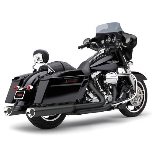 (BLACK) TRI-FLO 슬립온 할리 머플러 코브라 베거스 일렉트라 글라이드 스탠다드 (95-09)