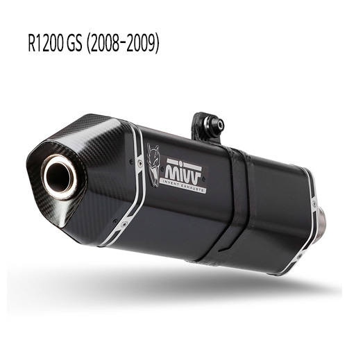 미브 R1200GS 스피드엣지 블랙 08-20 스틸 슬립온 머플러 BMW