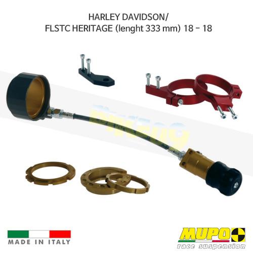 무포 레이싱 쇼바 HARLEY DAVIDSON 할리 소프테일 FLSTC HERITAGE (lenght 333 mm) (2018) Hydraulic spring preload Flex 올린즈