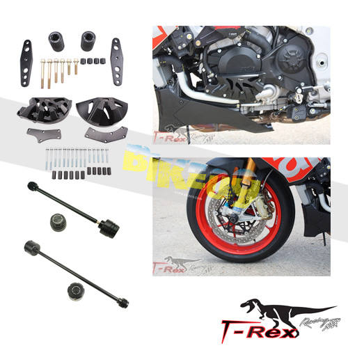 티렉스 프레임 슬라이더 아프릴리아 APRILIA RSV4(09-16) No Cut Frame Front/Rear Axle Sliders Case Covers GB레이싱