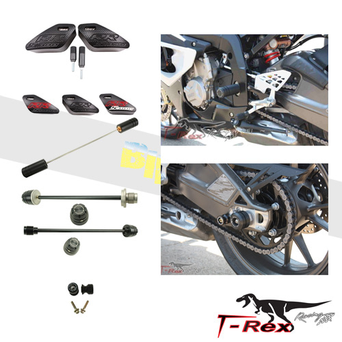 티렉스 프레임 슬라이더 BMW S1000RR(10-11) No Cut Frame Clutch Front/Rear Axle Sliders GB레이싱
