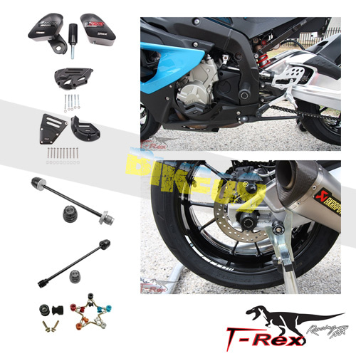 티렉스 프레임 슬라이더 BMW S1000RR(12-14) No Cut Frame Clutch Front/Rear Axle Sliders Spools GB레이싱