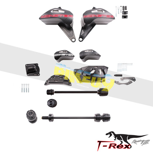 티렉스 프레임 슬라이더 두카티 DUCATI 몬스터1200(14-17) No Cut Frame Front/Rear Axle Sliders Pump Case Covers GB레이싱