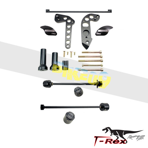 티렉스 프레임 슬라이더 가와사키 KAWASAKI ZX6R, ZZR600 No Cut Frame Front/Rear Axle Sliders Spools GB레이싱