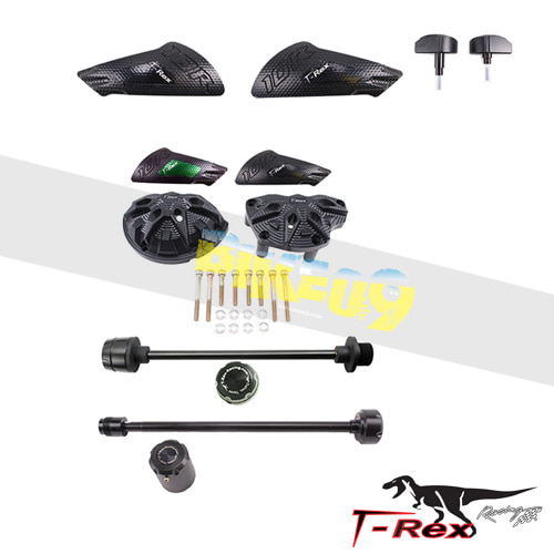 티렉스 프레임 슬라이더 가와사키 KAWASAKI ZX10R(11-17) No Cut Frame Front/Rear Axle Sliders Case Covers Spools GB레이싱
