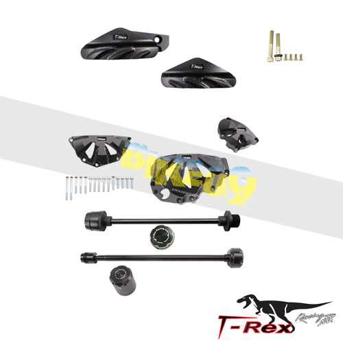 티렉스 프레임 슬라이더 가와사키 KAWASAKI ZX6R(09-12) No Cut Frame Front/Rear Axle Sliders Spools GB레이싱