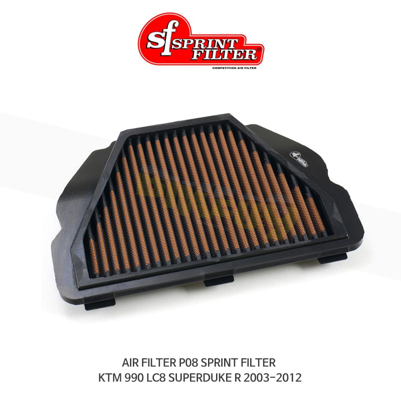 스프린트 필터 에어필터 KTM LC8 슈퍼듀크990 R (03-12) AIR FILTER P08