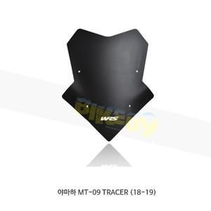 야마하 MT-09 TRACER (18-19) WRS 윈드스크린 SPORT 매트 블랙 YA005NO