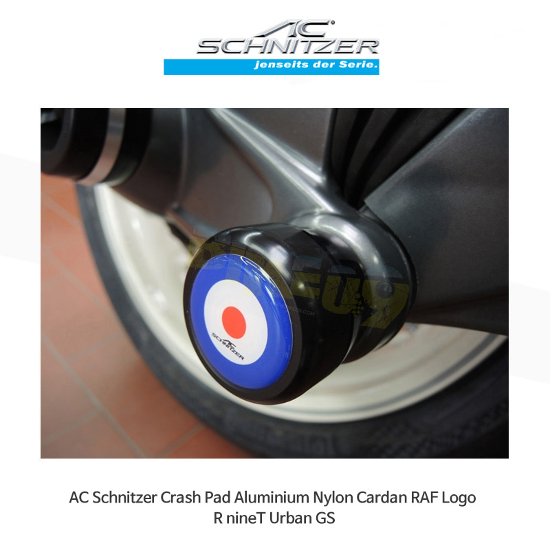 AC슈니처 BMW 알나인티 어반 GS (17-20) 크래시 패드 알루미늄 Nylon Cardan RAF Logo