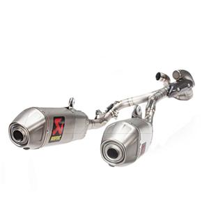 아크라포빅 혼다 CRF450 컴플레이트 이그저스트 에볼루션 풀 티타늄 (17-19) 오토바이 머플러