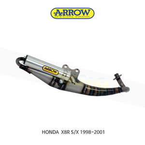 ARROW 애로우 COMPLETE EXHAUST 익스트림 알루미늄 화이트/ 혼다 X8R S/X (98-01) 33505ENB