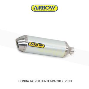 ARROW 애로우 SILENCER 레이스 테크 알루미늄 화이트 이녹스/ 혼다 NC700D/ 인테그라 (12-13) 71796AOB