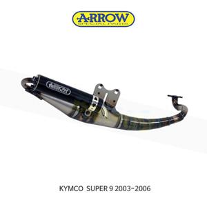 ARROW 애로우 COMPLETE EXHAUST 레이싱 익스트림 알루미늄 블랙/ 킴코 슈퍼9 (03-06) 33520EN