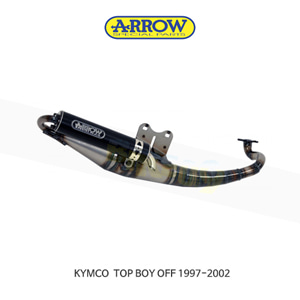 ARROW 애로우 COMPLETE EXHAUST 레이싱 익스트림 알루미늄 블랙/ 킴코 탑보이 OFF (97-02) 33520EN