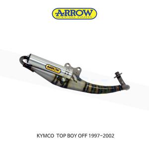 ARROW 애로우 COMPLETE EXHAUST 레이싱 익스트림 알루미늄 화이트/ 킴코 탑보이 OFF (97-02) 33520ENB
