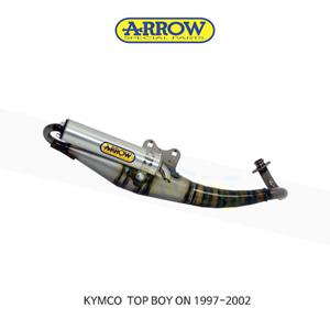 ARROW 애로우 COMPLETE EXHAUST 레이싱 익스트림 알루미늄 화이트/ 킴코 탑보이 ON (97-02) 33520ENB