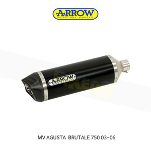ARROW 애로우 SILENCER 레이싱 스트리트 썬더 알루미늄 다크 카본/ MV아구스타 브루탈레750 (03-06) 71110AKN