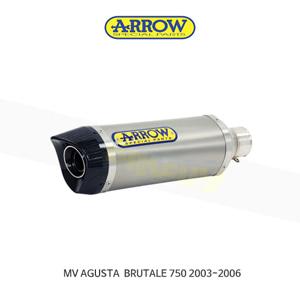 ARROW 애로우 SILENCER 레이싱 썬더 티타늄 이녹스/ MV아구스타 브루탈레750 (03-06) 71110PO