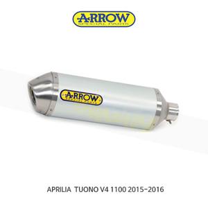 ARROW 애로우 SILENCER 레이스 테크 알루미늄 화이트/ 아프릴리아V4 1100 (15-16) 71744AKB