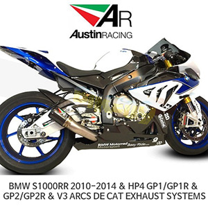 오스틴레이싱 머플러 BMW S1000RR 2010-2014 & HP4 GP1/GP1R & GP2/GP2R & V3 ARCS DE CAT EXHAUST SYSTEMS