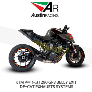 오스틴레이싱 머플러 KTM 슈퍼듀크1290 GP3 BELLY EXIT DE-CAT EXHAUSTS SYSTEMS
