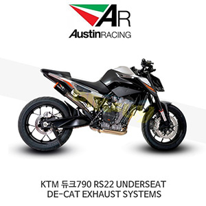 오스틴레이싱 머플러 KTM 듀크790 RS22 UNDERSEAT DE-CAT EXHAUST SYSTEMS