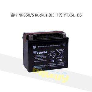 혼다 NPS50/S Ruckus (03-17) YTX5L-BS