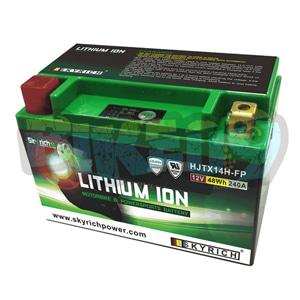 스카이리치 리튬 배터리 LITX14H (W/Led 인디케이터) YTX14-BS - 오토바이 밧데리 리튬이온 배터리 HJTX14H-FP