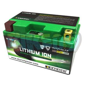 스카이리치 리튬 배터리 LITZ14S (W/Led 인디케이터) YTZ12S/YTZ14S - 오토바이 밧데리 리튬이온 배터리 HJTZ14S-FP
