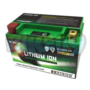 스카이리치 리튬 배터리 LITX7A (W/Led 인디케이터) YTX7A-BS - 오토바이 밧데리 리튬이온 배터리 HJTX7A-FP