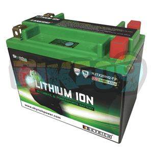 스카이리치 리튬 배터리 LITX20HQ (워터프루프+ Led 인디케이터) YTX20-BS/YTX20H-BS/YTX15L-BS - 오토바이 밧데리 리튬이온 배터리 HJTX20HQ-FP