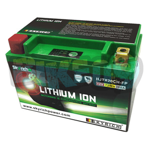 스카이리치 리튬 배터리 LITX20CH (W/Led 인디케이터) - 오토바이 밧데리 리튬이온 배터리 327113