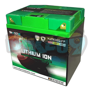 스카이리치 리튬 배터리 LITX30Q (워터프루프+ Led 인디케이터 + 쿼드 터미널) 53030 - 오토바이 밧데리 리튬이온 배터리 HJTX30Q-FP