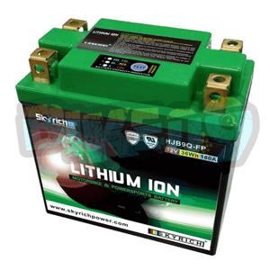 스카이리치 리튬 배터리 LIB9Q (워터프루프 + Led 인디케이터) 12N9-4B-1/12N7-3B/12N7-4A - 오토바이 밧데리 리튬이온 배터리 HJB9Q-FP