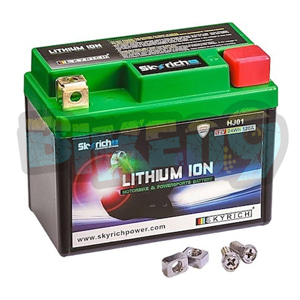 스카이리치 리튬 아이온 배터리 HJ01 Maintenance Free - 오토바이 밧데리 리튬이온 배터리 HJ01