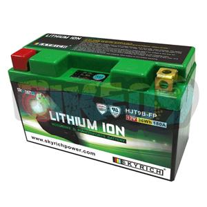트라이엄프 스카이리치 리튬 배터리 LIT9B (W/Led 인디케이터) YT9B-BS/YT7B-BS - 오토바이 밧데리 리튬이온 배터리 HJT9B-FP