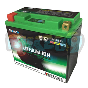 야마하 스카이리치 리튬 배터리 LIT12B (W/Led 인디케이터) YB10L-B2/YB10L-BP/YB10L-B2 - 오토바이 밧데리 리튬이온 배터리 HJT12B-FP