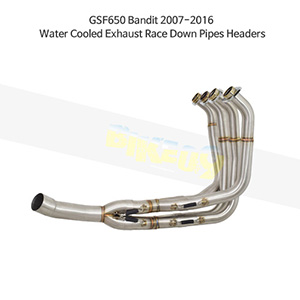 SUZUKI 스즈키 GSF650 Bandit (07-16) Water Cooled Exhaust Race Down Pipes Headers 메니폴더 머플러 중통