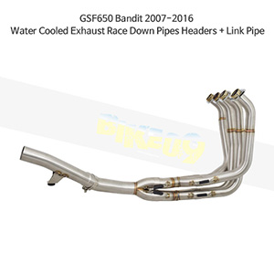 SUZUKI 스즈키 GSF650 Bandit (07-16) Water Cooled Exhaust Race Down Pipes Headers + Link Pipe 메니폴더 머플러 중통