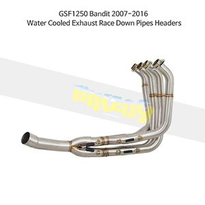 SUZUKI 스즈키 GSF1250 Bandit (07-16) Water Cooled Exhaust Race Down Pipes Headers 메니폴더 머플러 중통