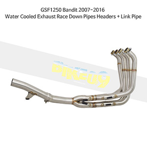 SUZUKI 스즈키 GSF1250 Bandit (07-16) Water Cooled Exhaust Race Down Pipes Headers + Link Pipe 메니폴더 머플러 중통