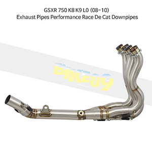 SUZUKI 스즈키 GSXR750 K8 K9 L0 (08-10) Exhaust Pipes Performance Race De Cat Downpipes 메니폴더 머플러 중통