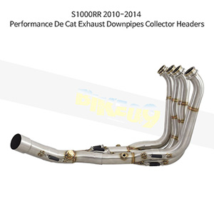 BMW S1000RR (10-14) Performance De Cat Exhaust Downpipes Collector Headers 메니폴더 머플러 중통
