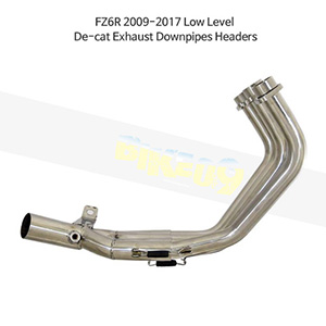 YAMAHA 야마하 FZ6R (09-17) Low Level De-cat Exhaust Downpipes Headers 메니폴더 머플러 중통