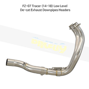 YAMAHA 야마하 FZ-07 Tracer (14-18) Low Level De-cat Exhaust Downpipes Headers 메니폴더 머플러 중통