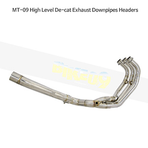 YAMAHA 야마하 MT09 MT-09 High Level De-cat Exhaust Downpipes Headers 메니폴더 머플러 중통